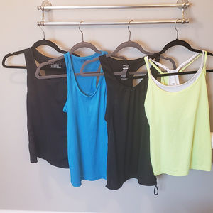 Four Workout Active Yoga Tops Size Small/Medium